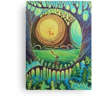 Fantasy creatures. Magic wood illustration.  Canvas Print
