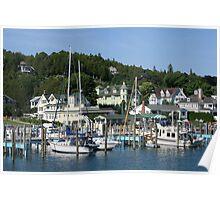 Mackinac Island Harbor Poster