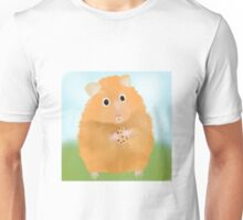 Hamster loves cookie Unisex T-Shirt