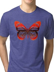 Butterfly abstract Tri-blend T-Shirt