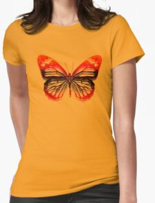 Butterfly abstract Womens Fitted T-Shirt