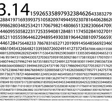 1,200 Digits of Pi by pacmanray