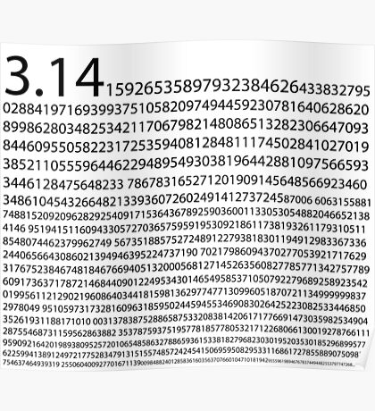 1,200 Digits of Pi Poster