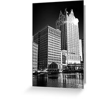 Milwaukee River and Structures Greeting Card