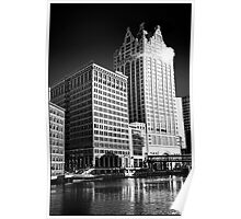 Milwaukee River and Structures Poster