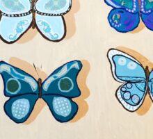 Blue Butterfly Specimen Box Sticker