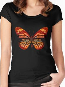 Butterfly Abstract Women's Fitted Scoop T-Shirt
