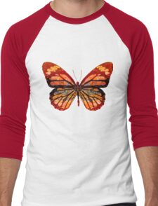 Butterfly Abstract Men's Baseball ¾ T-Shirt