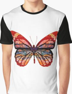 Butterfly Abstract Psychedelic Graphic T-Shirt