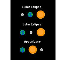 All Three Types of Eclipse Photographic Print