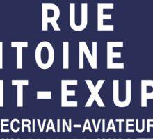 Rue Antoine de Saint-Exupery, Street Sign, Lyon, France Sticker
