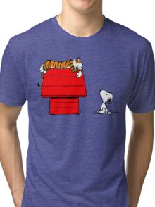 Snoopy And Hobbes Tri-blend T-Shirt