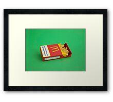 Pack of Fries Framed Print