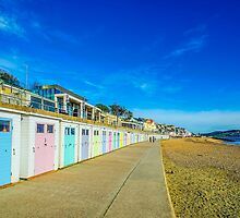 Beach Huts at Lyme Regis by Chris Thaxter