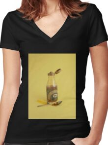 Brown Sugar Women's Fitted V-Neck T-Shirt