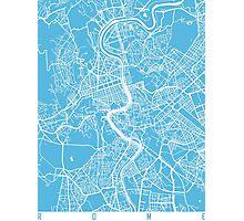 Rome map blue Photographic Print