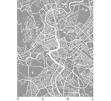 Rome map grey Photographic Print