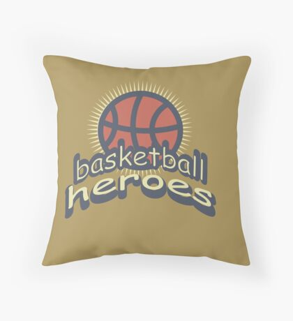 Basketball Heroes Throw Pillow