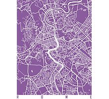 Rome map lilac Photographic Print