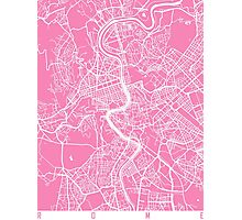 Rome map pink Photographic Print
