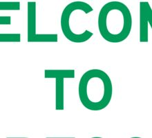 Welcome to Oregon, Road Sign, USA Sticker