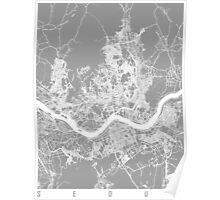 Seoul map grey Poster