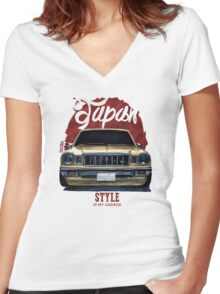Japan car in my garage Women's Fitted V-Neck T-Shirt