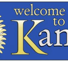 Welcome to Kansas, Road Sign, USA Sticker
