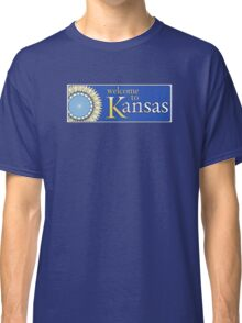 Welcome to Kansas, Road Sign, USA Classic T-Shirt