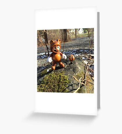 Tanooki Mario Greeting Card