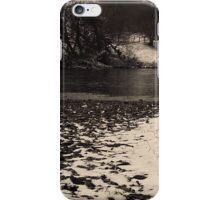 River Tees Snow, North Yorkshire iPhone Case/Skin