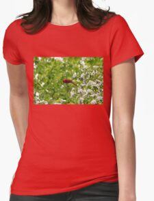 Smell The Flowers Along The Way Womens Fitted T-Shirt