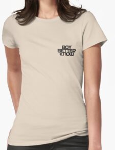 Boy Better Know Smal Logo T- shirt  Womens Fitted T-Shirt