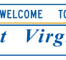 Welcome to West Virginia, Road Sign, USA Sticker