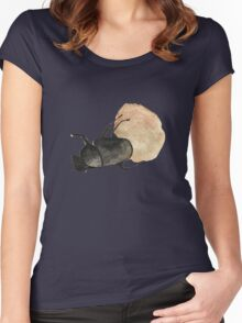 Dung Beetle Cute Funny Random Gift Cool Women's Fitted Scoop T-Shirt