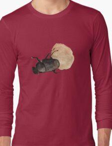 Dung Beetle Cute Funny Random Gift Cool Long Sleeve T-Shirt