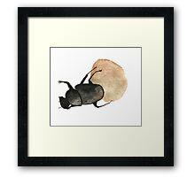 Dung Beetle Cute Funny Random Gift Cool Framed Print