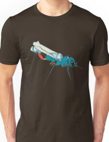 Blue Wasp Bug Insect Cute Illustration Drawing Unique Unisex T-Shirt