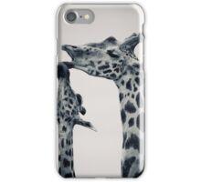 Giraffes in love iPhone Case/Skin