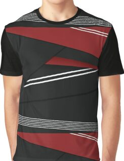 Red, White and Black Graphic T-Shirt