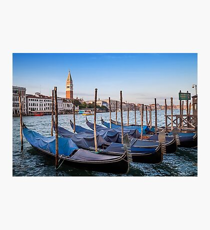 VENICE Grand Canal and Goldolas Photographic Print