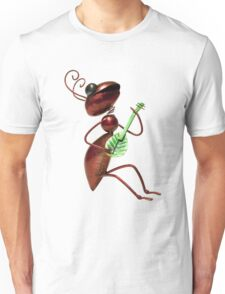 Ant playing guitar Unisex T-Shirt