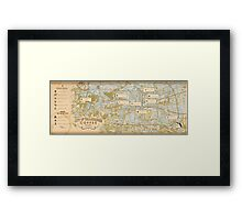 Tallahassee Coffee Map Framed Print