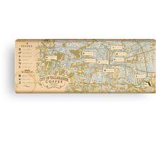 Tallahassee Coffee Map Canvas Print