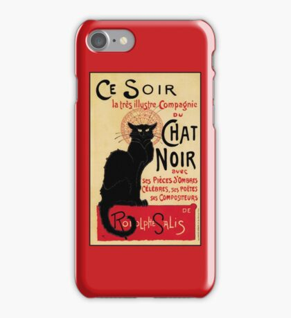 The black cat, le chat noir famous art nouveau ad  iPhone Case/Skin