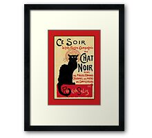 The black cat, le chat noir famous art nouveau ad  Framed Print
