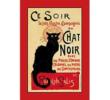The black cat, le chat noir famous art nouveau ad  Photographic Print