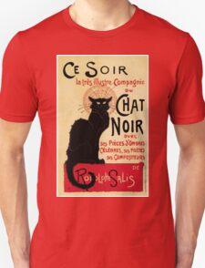 The black cat, le chat noir famous art nouveau ad  T-Shirt