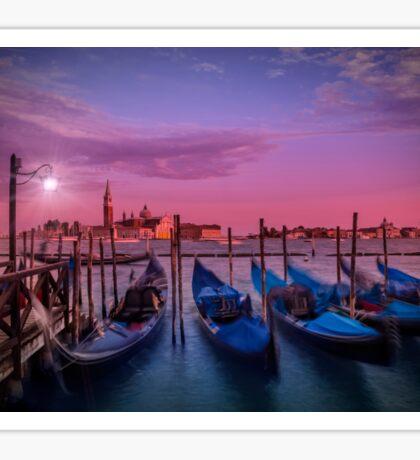VENICE Gondolas at Sunset Sticker