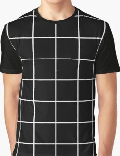 Black - grid Graphic T-Shirt